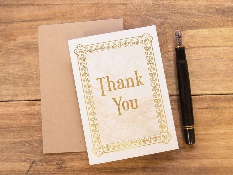 画像1: 【ネコポスOK】 旅屋オリジナル グリーティングカード Thank you