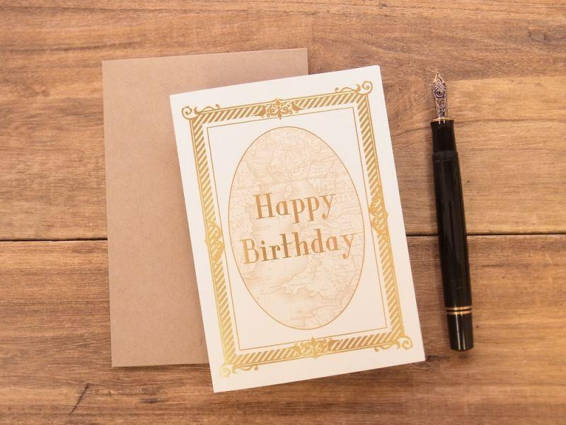 画像1: 【ネコポスOK】 旅屋オリジナル グリーティングカード Happy Birthday