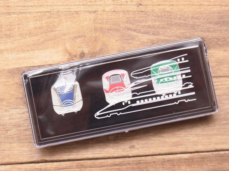画像2: 【ネコポスOK】 TRAINIART/トレニアート 新幹線ピンズセット(E5、E6、E7)
