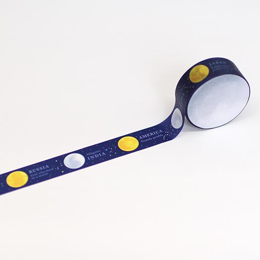 画像2: 【ネコポスOK】 月のマスキングテープ 月のもよう