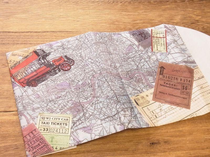 画像2: 【ネコポスOK】 TYVEK/タイベック ブックカバー 文庫サイズ ロンドン
