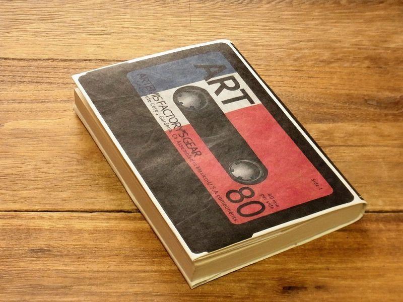 画像1: 【ネコポスOK】 TYVEK/タイベック ブックカバー 文庫サイズ カセットテープ
