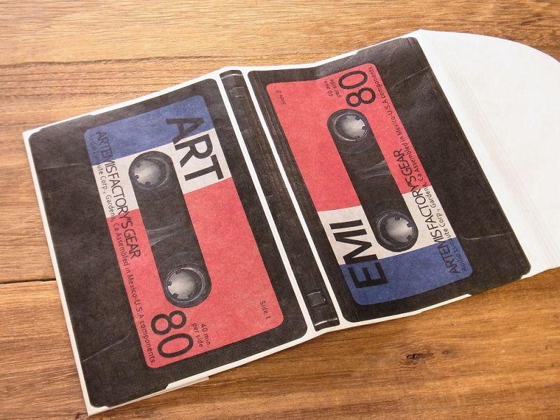 画像2: 【ネコポスOK】 TYVEK/タイベック ブックカバー 文庫サイズ カセットテープ