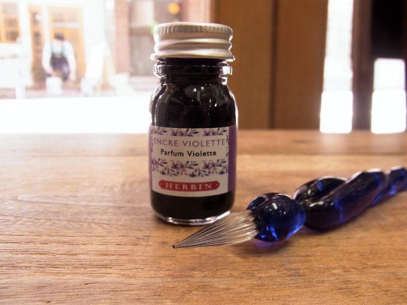 画像2: 【数量限定】【ネコポスNG】 J.HERBIN/エルバン ガラスペン つむぎ&ミニインクセット ロイヤルブルー