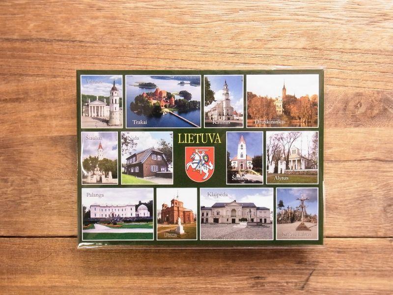 画像1: 【買付け品】【ネコポスOK】 LIETUVA/リトアニア ポストカードB