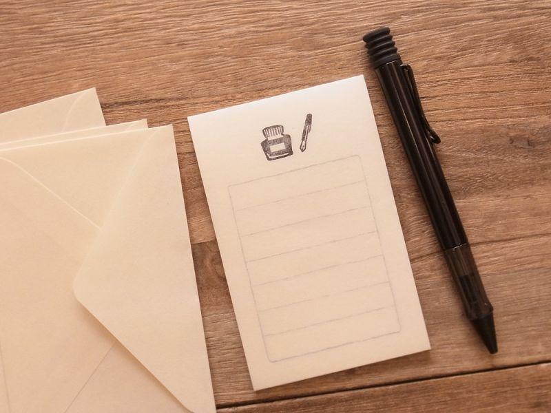 画像2: 【ネコポスOK】 そえぶみ箋 万年筆