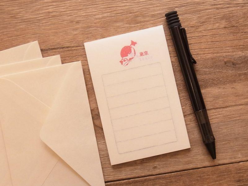 画像1: 【ネコポスOK】 そえぶみ箋 ご当地東京 にっぽん