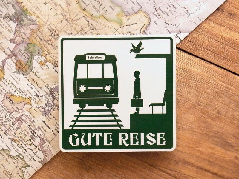 画像1: 【ネコポスOK】 旅屋オリジナル 旅ステッカー GUTE REISE/良い旅を!