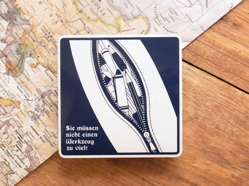 画像1: 【ネコポスOK】 旅屋オリジナル 文房具ステッカー 入れすぎ注意