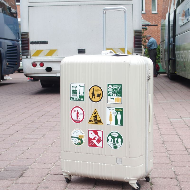 画像2: 【ネコポスOK】 旅屋オリジナル 旅ステッカー Neun9 Gegensrande/旅の持ち物