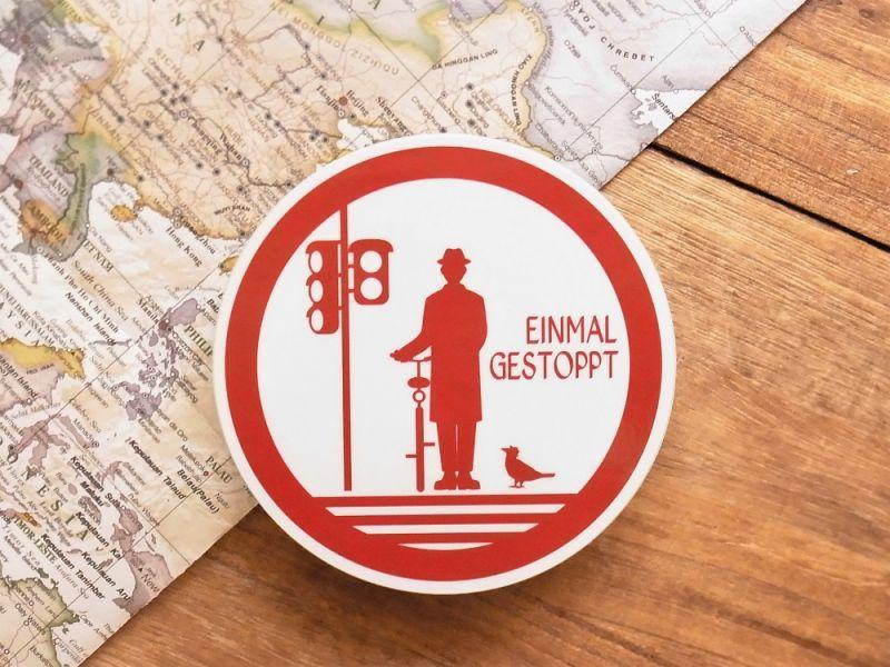 画像1: 【ネコポスOK】 旅屋オリジナル 旅ステッカー EINMAL GESTOPPT/一旦停止