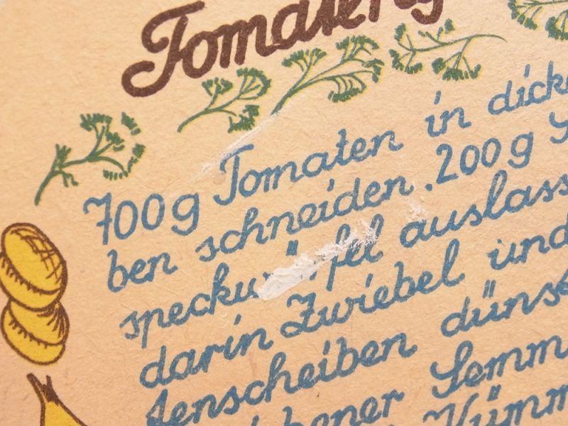 画像3: 【ドイツ買付け品】【ネコポスOK】 DDR Rezept Untersetzer/レシピ コースター tomaten gemüse
