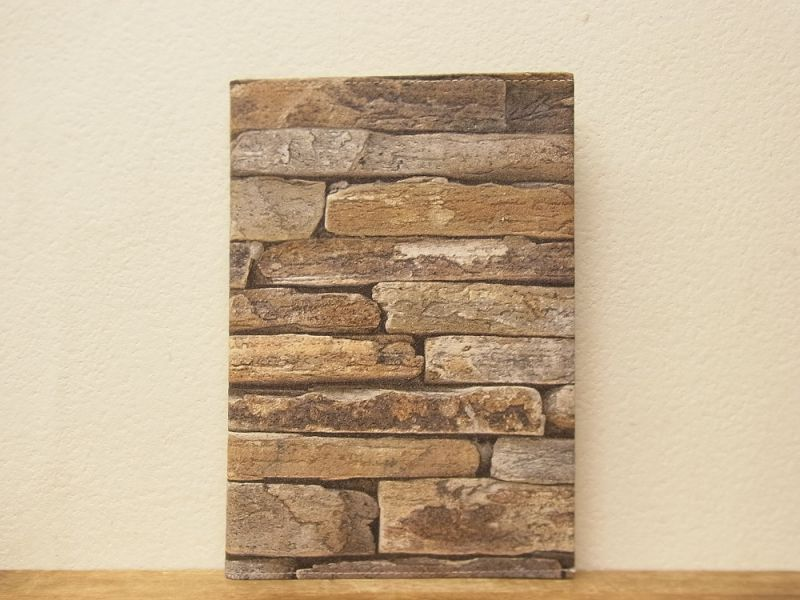 画像1: 【ネコポスOK】 Quaint Design/クイントデザイン GRAFICA DECORA BAMBOO NOTE A5 stone wall