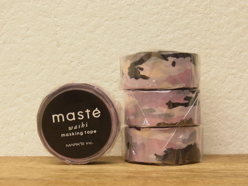 画像1: 【ネコポスOK】 マークス マスキングテープ パターン カモフラージュ ピンク