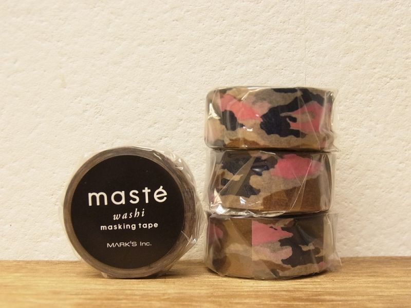画像1: 【ネコポスOK】 マークス マスキングテープ パターン カモフラージュ キャメル