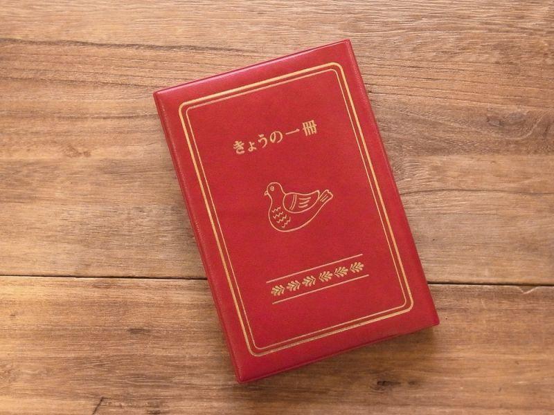 画像1: 【ネコポスOK】 きょうの一冊 ブックカバー レッド