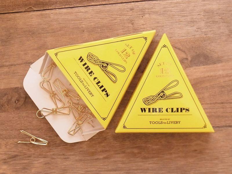 画像1: 【ネコポス△】 TOOLS to LIVEBY Wire Clip/ワイヤークリップ ゴールド