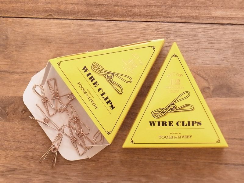 画像1: 【ネコポス△】 TOOLS to LIVEBY Wire Clip/ワイヤークリップ ローズゴールド