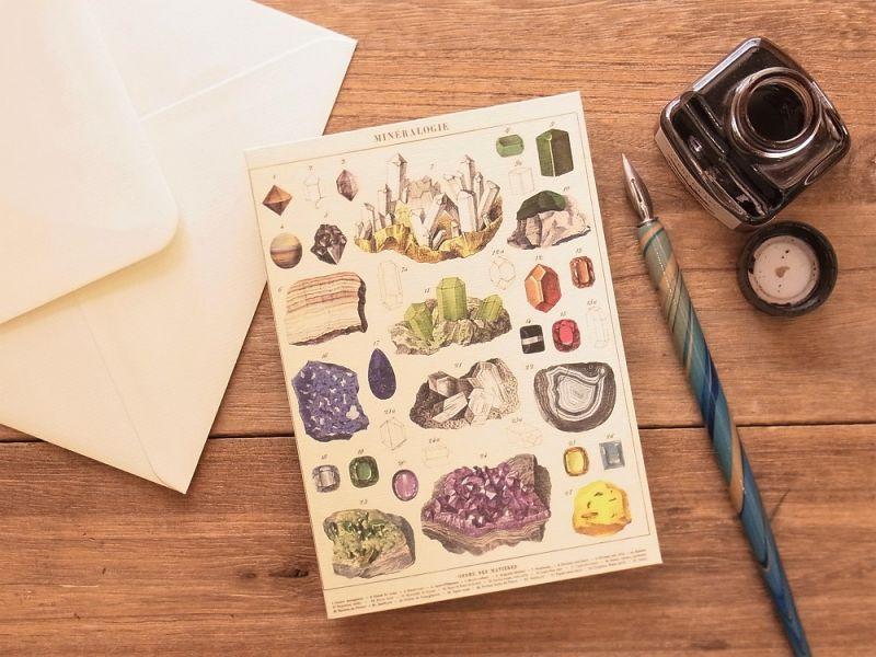 画像1: 【ネコポスOK】 アメリカ CAVALLINI/カバリーニ グリーティングカード(2つ折り) Mineralogy