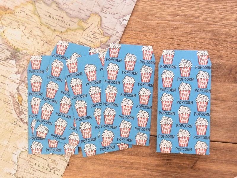 画像1: 【ネコポスOK】 ポチ袋 POPCORN 5枚入り
