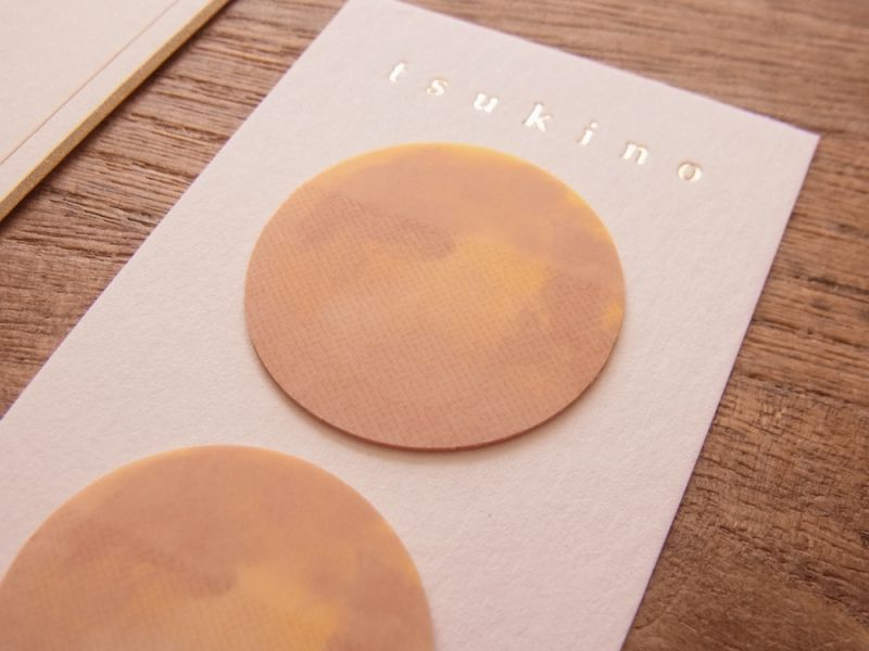 画像2: 【ネコポスOK】 月のフィルムふせん 朝の月