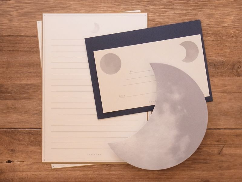 画像1: 【ネコポスOK】 月のレターセット 月の船