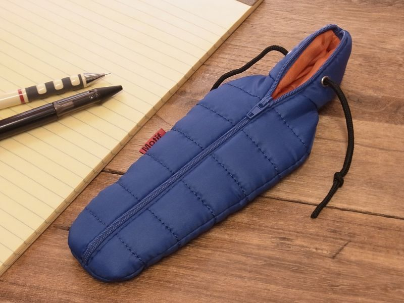 画像1: 【ネコポスOK】 SLEEPING BAG SHAPE PEN CASE/スリーピングバッグ ペンケース ブルー