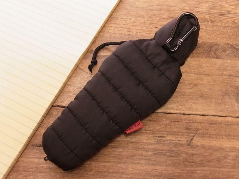 画像4: 【ネコポスOK】 SLEEPING BAG SHAPE PEN CASE/スリーピングバッグ ペンケース ブラック