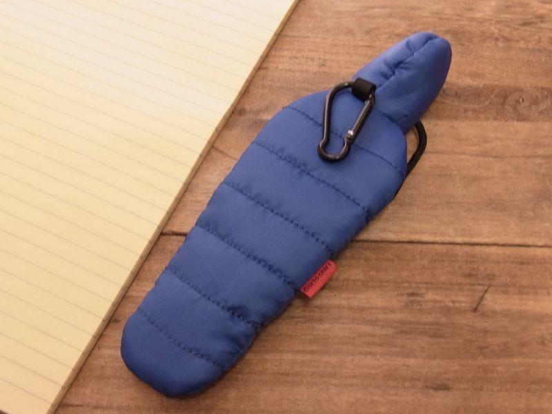 画像4: 【ネコポスOK】 SLEEPING BAG SHAPE PEN CASE/スリーピングバッグ ペンケース ブルー