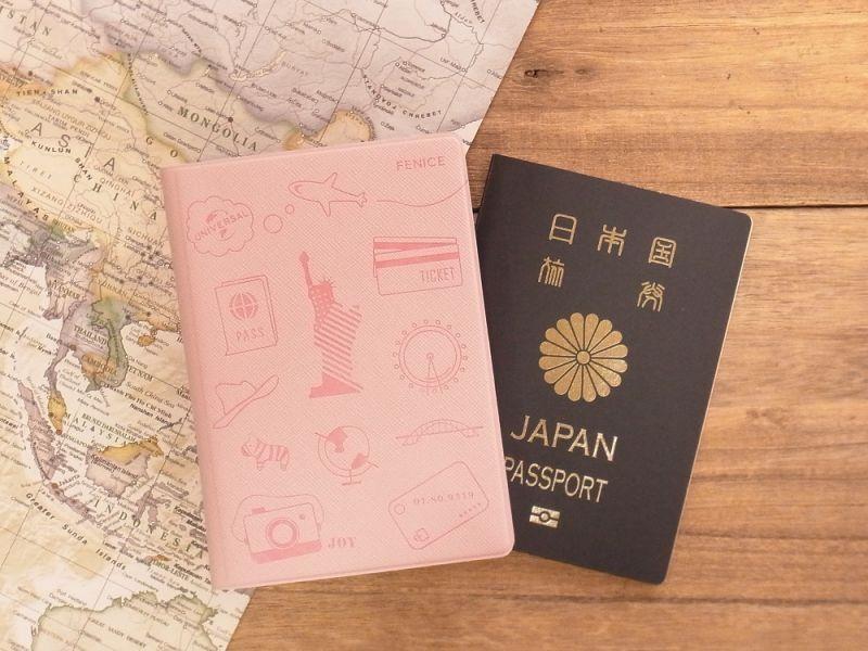 画像1: 【ネコポスOK】 パスポートカバーS ピンク
