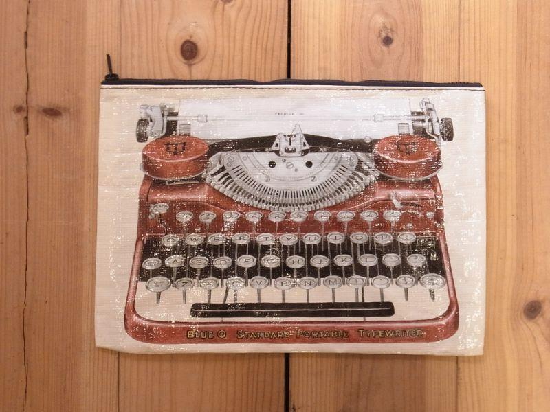 画像1: 【ネコポスNG】 アメリカ Blue Q/ブルーキュー ジャンボポーチ Typewriter