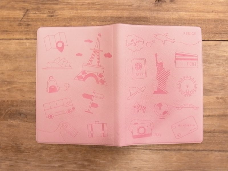 画像2: 【ネコポスOK】 パスポートカバーS ピンク