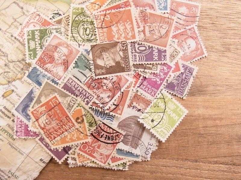 画像1: 【ネコポスOK】 外国使用済切手 デンマーク 100枚入り