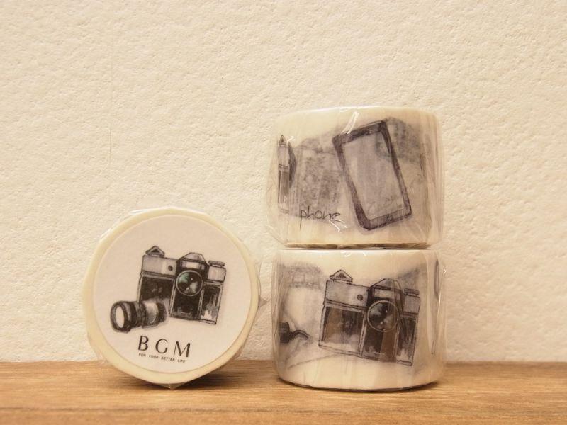 画像1: 【ネコポスNG】 BGM マスキングテープ モノ心/デジタル