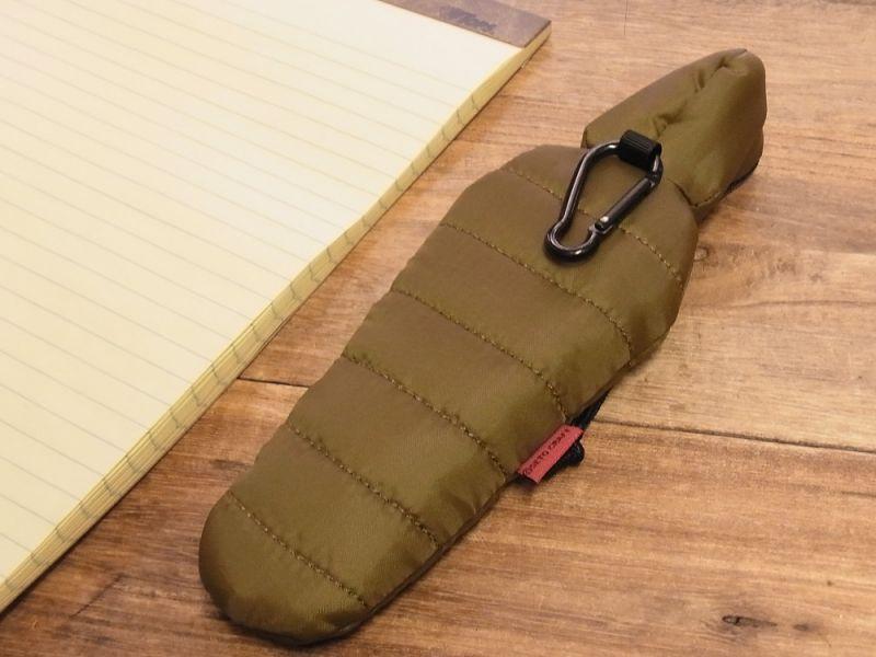 画像2: 【ネコポスOK】 SLEEPING BAG SHAPE PEN CASE/スリーピングバッグ ペンケース グリーン