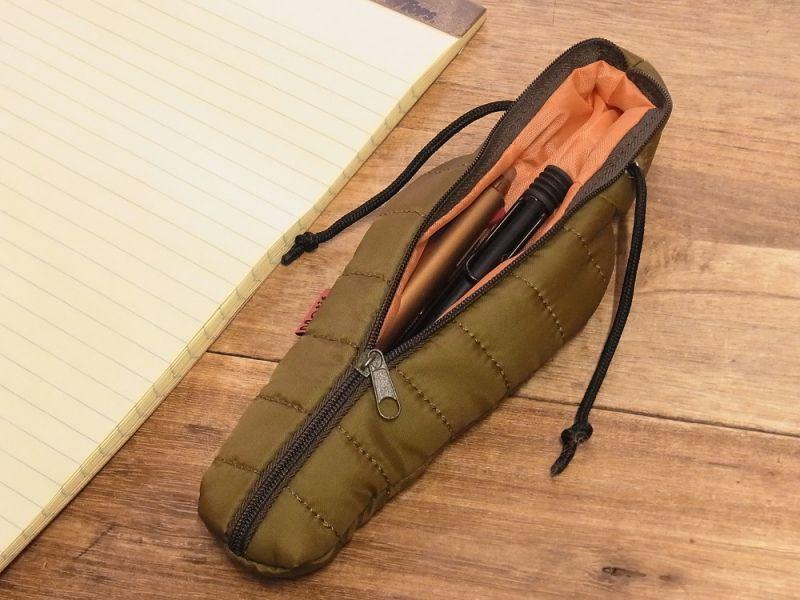画像3: 【ネコポスOK】 SLEEPING BAG SHAPE PEN CASE/スリーピングバッグ ペンケース グリーン