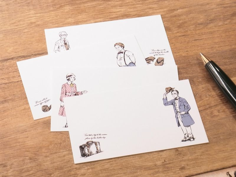 画像1: 【ネコポスOK】 旅屋オリジナル ミニカード4種セット