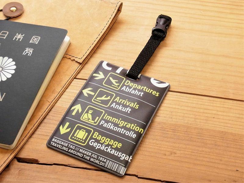 画像1: 【ネコポスOK】 RETRO AIRLINE DESIGN BAGGAGE TAG/ラゲッジタグ サインボード