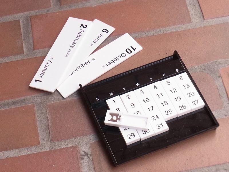 画像2: 【ネコポスOK】 アメリカ Slencil/スレンシル Always calendar/万年カレンダー ブラック
