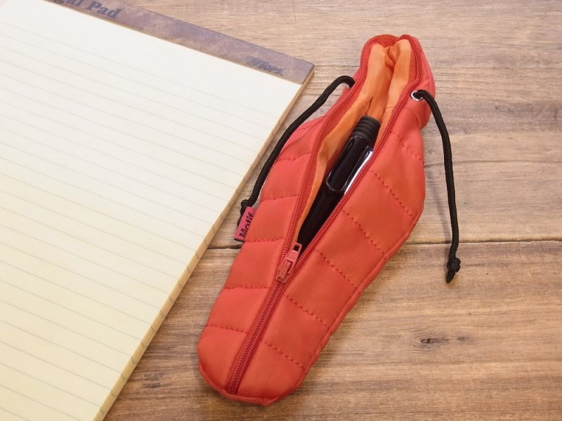 画像3: 【ネコポスOK】 SLEEPING BAG SHAPE PEN CASE/スリーピングバッグ ペンケース レッド