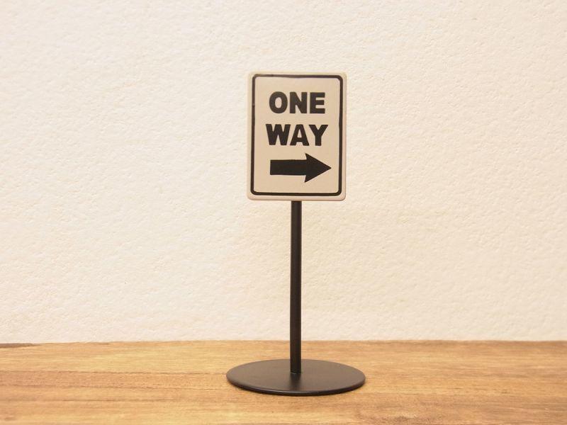 画像1: 【ネコポスNG】 メモクリップ ONE WAY