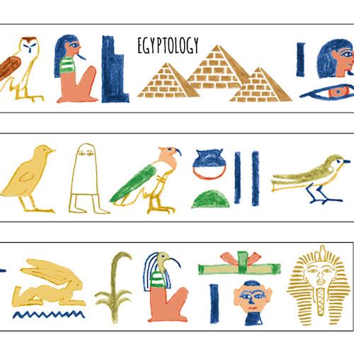 画像2: 【ネコポスOK】 STUDY HOLIC マスキングテープ 古代エジプト学