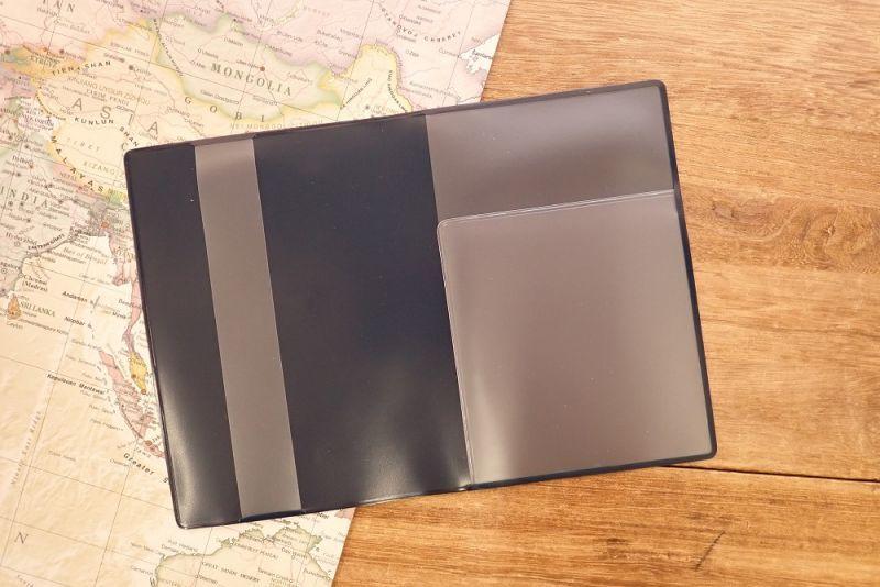 画像4: 【ネコポスOK】 パスポートカバー ネコ ブルー