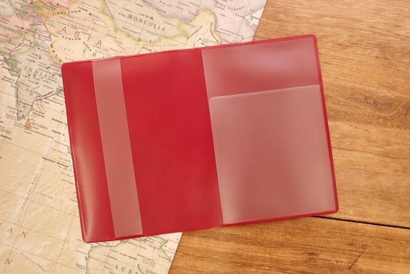 画像4: 【ネコポスOK】 パスポートカバー ネコ レッド