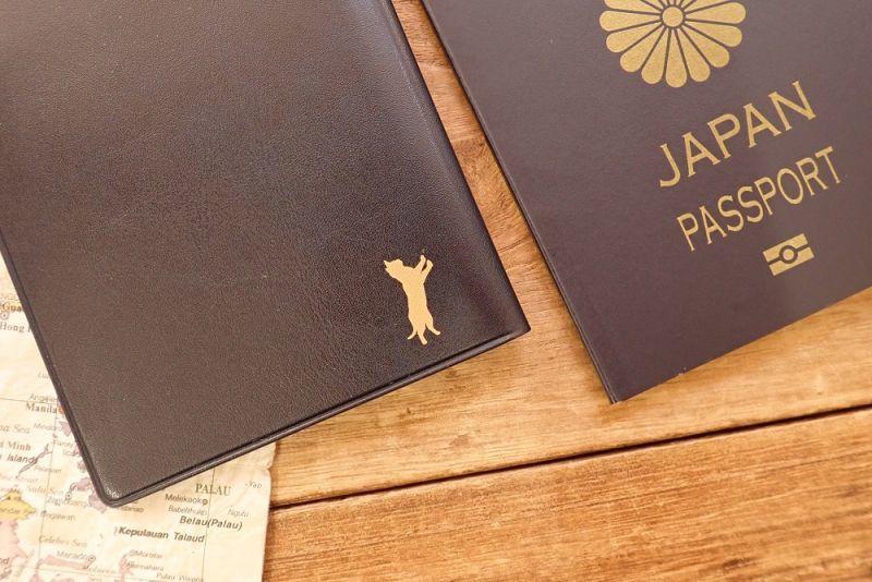 画像2: 【ネコポスOK】 パスポートカバー ネコ ブルー