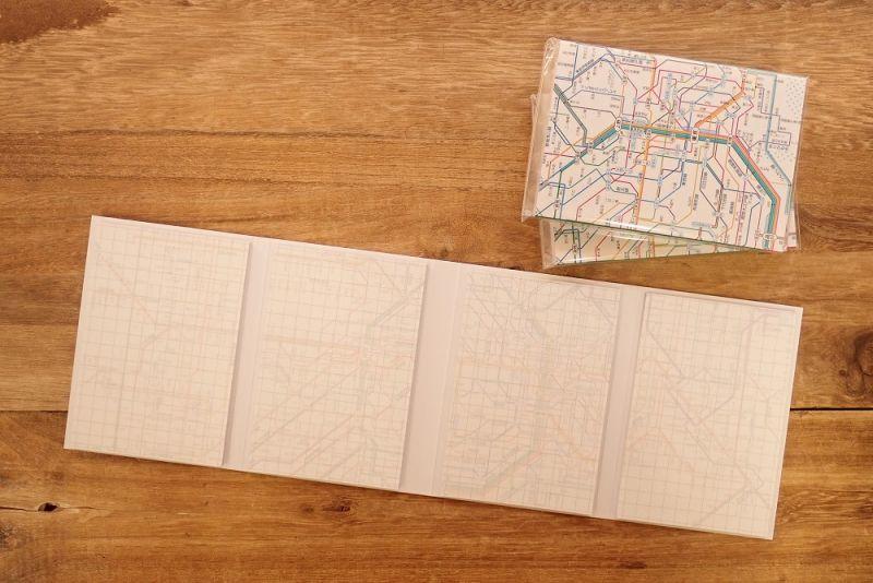 画像2: 【ネコポスOK】 鉄道路線図メモ 首都圏 日本語