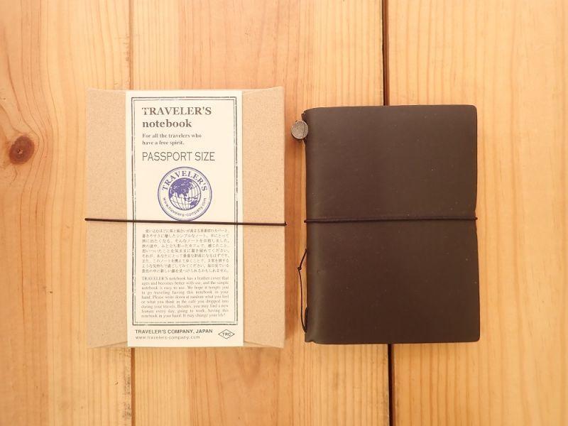 画像1: 【ネコポスOK】 Traveler's Notebook/トラベラーズノート パスポートサイズ 黒