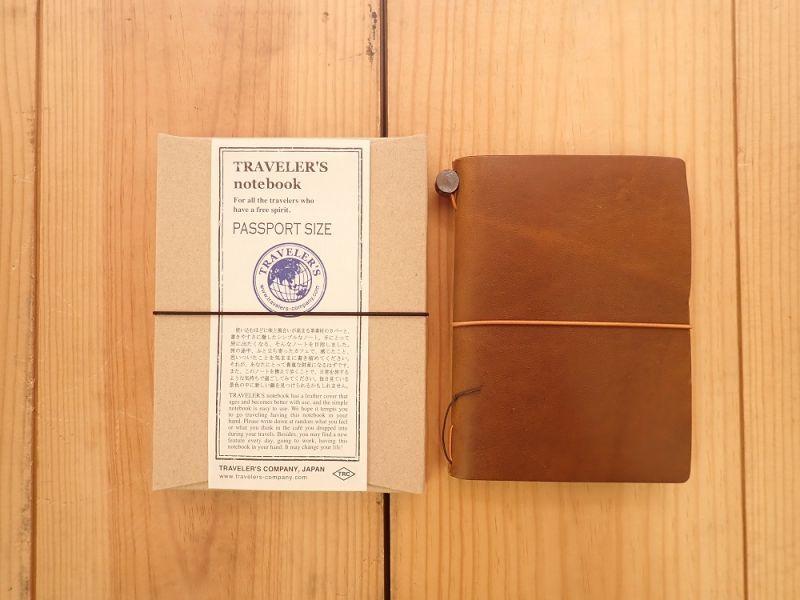 画像1: 【ネコポスOK】 Traveler's Notebook/トラベラーズノート パスポートサイズ キャメル