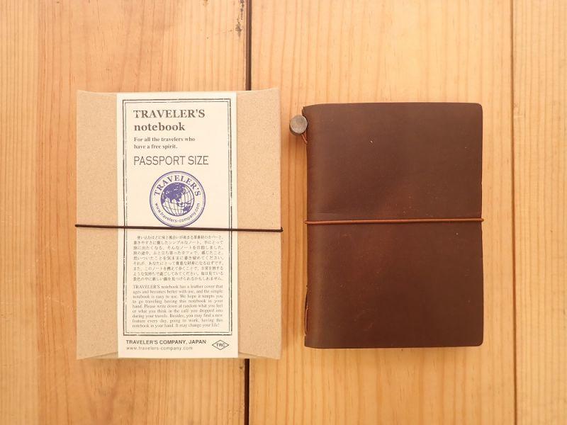 画像1: 【ネコポスOK】 Traveler's Notebook/トラベラーズノート パスポートサイズ 茶