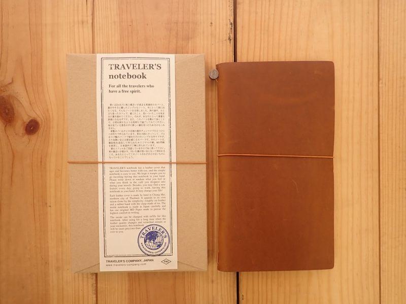 画像1: 【ネコポスOK】 Traveler's Notebook/トラベラーズノート キャメル